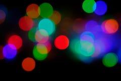 Lumières de flou de Bokeh photos libres de droits