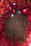 Lumières de fond de Noël Photographie stock libre de droits