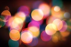 Lumières de fond de Noël Photo libre de droits