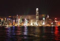 Lumières de Hong Kong Images libres de droits