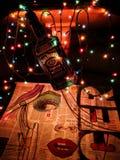 Lumières de Jack Daniells Photos libres de droits