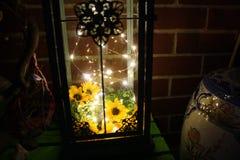 Lumières de la lanterne n LED de décor de Boho Image libre de droits