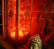 Lumières de la lanterne n LED de décor de Boho Images stock