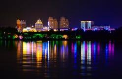 Lumières de la ville de nuit Photographie stock