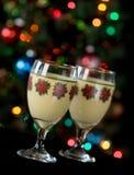 Lumières de lait de poule et de vacances photographie stock
