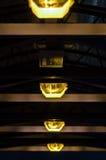 Lumières de lampe de tunnel Photo stock