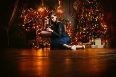 Lumières de magie de Noël Image libre de droits