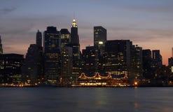 Lumières de Manhattan Photographie stock