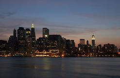 Lumières de Manhattan Photo stock
