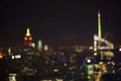 Lumières de New York City Photos libres de droits
