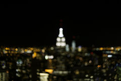 Lumières de New York City Photo stock