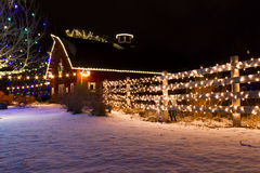 Lumières de Noël Photo stock