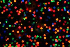 Lumières de Noël Photographie stock libre de droits