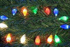 Lumières de Noël. Images libres de droits