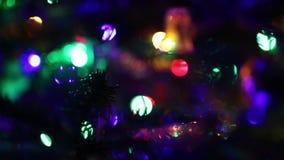 Lumières de Noël banque de vidéos