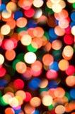 Lumières de Noël abstraites Photo stock