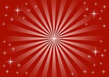 Lumières de Noël avec des étoiles Image stock