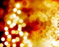 Lumières de Noël brouillées Photographie stock