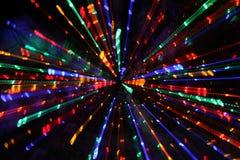 Lumières de Noël changées de plan Photographie stock libre de droits