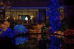 Lumières de Noël colorées Photographie stock