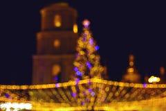 Lumières de Noël colorées brouillées Photographie stock libre de droits