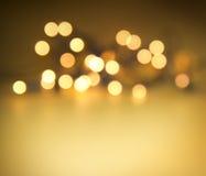 Lumières de Noël d'or Photos libres de droits