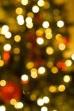 Lumières de Noël de Defocussed Photographie stock libre de droits