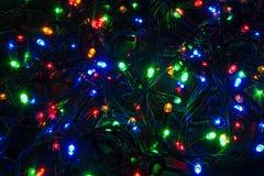 Lumières de Noël de LED Photographie stock libre de droits