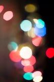 Lumières de Noël Defocused Photographie stock