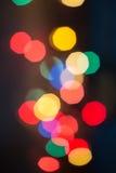 Lumières de Noël Defocused Image stock