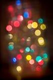 Lumières de Noël Defocused Images libres de droits