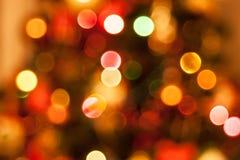 Lumières de Noël defocused naturelles Photo stock