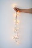 Lumières de Noël disponibles images stock