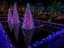 Lumières de Noël extérieures Photo libre de droits