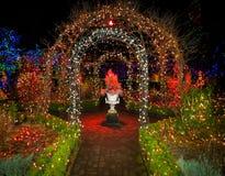Lumières de Noël extérieures Photographie stock