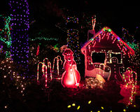 Lumières de Noël extérieures Photos libres de droits