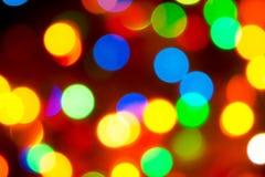 Lumières de Noël Fond de fête brouillé pour un De de nouvelle année images stock