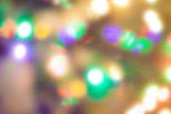 Lumières de Noël, fond unfocused image libre de droits