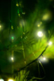 Lumières de Noël, fond unfocused photos stock