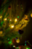 Lumières de Noël, fond unfocused photos libres de droits