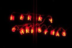 Lumières de Noël, Joyeux Noël Image stock