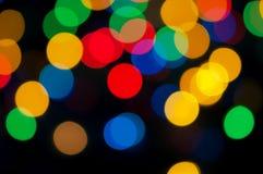 Lumières de Noël lumineuses Image stock