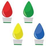 Lumières de Noël réglées Photo stock