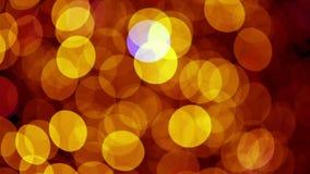 Lumières de Noël rouges et jaunes banque de vidéos