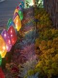 Lumières de Noël surdimensionnées Photo stock