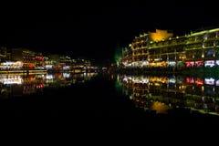 Lumières de nuit Images libres de droits