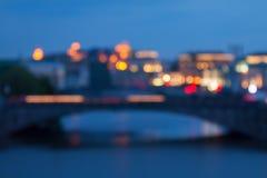 Lumières de nuit de Blured Image stock