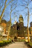 Lumières de nuit par le parc de Bryant Photographie stock