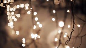 Lumières de nuit pendant le Noël clips vidéos