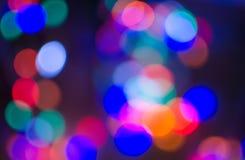 Lumières de partie hors de foyer et de couleur Photo libre de droits